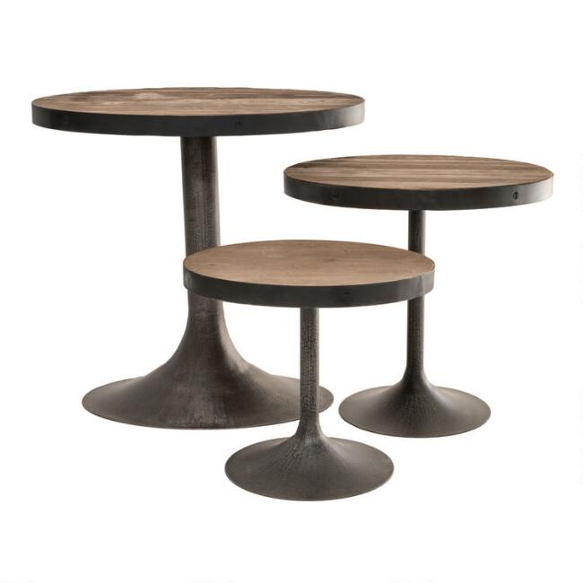 Reclaimed Pine Victor Accent Table Collection
