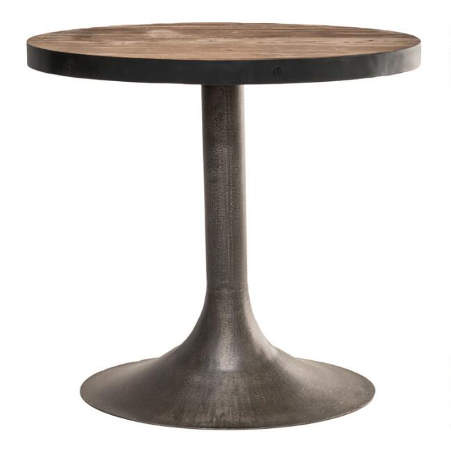 Large Oval Reclaimed Pine Victor Accent Table