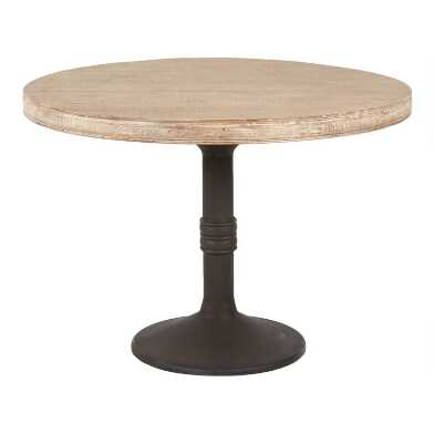 Round Graywash Reclaimed Pine Sienna Dining Table
