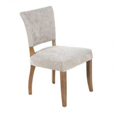 Gray Wood Monroe Upholstered Dining Chairs Set of 2