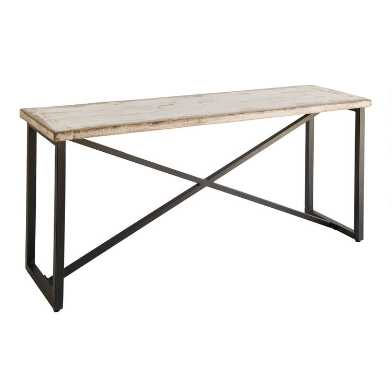 Antique Gray Reclaimed Pine Sita Console Table