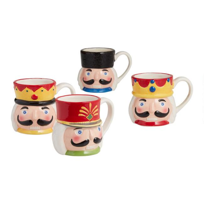 Nutcracker Mugs Set of 4