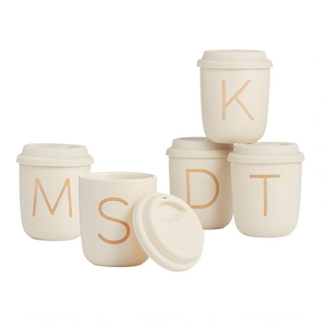 Sand Monogrammed Ceramic Not a Paper Cup