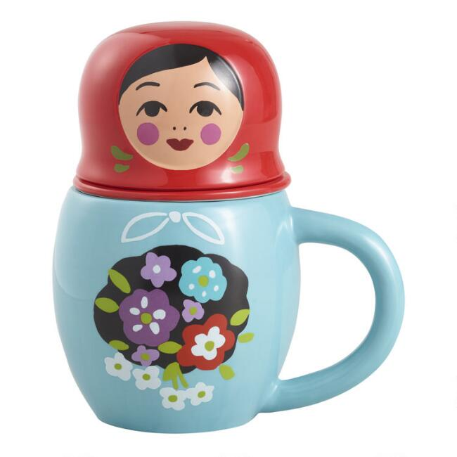Russian Doll Tea Infuser Mug