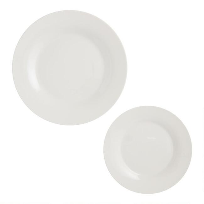 Natural White Porcelain Party Plates 6 Pack