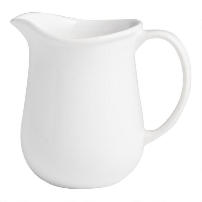 Large White Meadow Gravy Pitcher