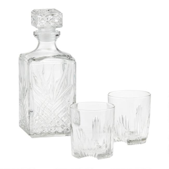 Bormioli Rocco Selecta 7 Piece Whisky Decanter Set