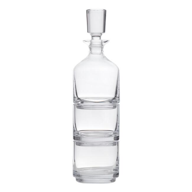 Duet Stacking Decanter and Glasses 3 Piece Set