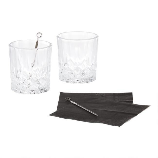 Kikkerland Whiskey Glass Set