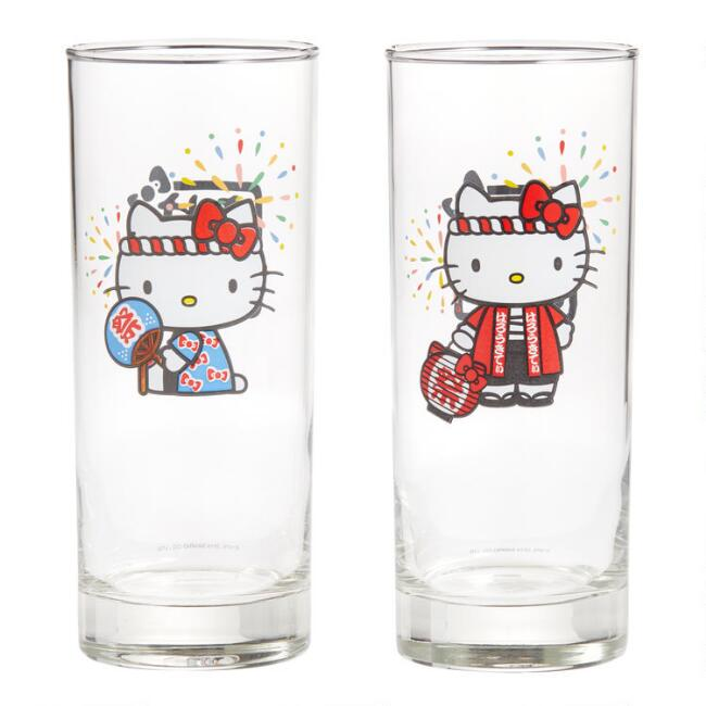 Hello Kitty Omatsuri Juice Glasses 2 Pack