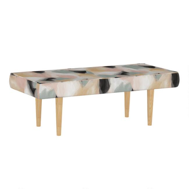 Abstract Shapes Cloud Bram Upholstered Bench
