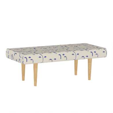 Faces Klein Blue Bram Upholstered Bench