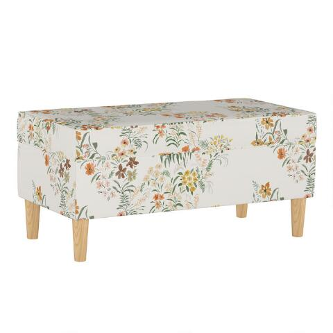 Sensational Lucinda Floral Harvest Tabitha Upholstered Storage Bench Gmtry Best Dining Table And Chair Ideas Images Gmtryco