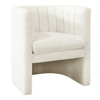 Faux Sheepskin Brady Upholstered Tub Chair