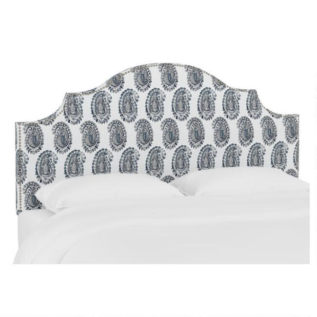 Block Paisley Gretchen Upholstered Headboard