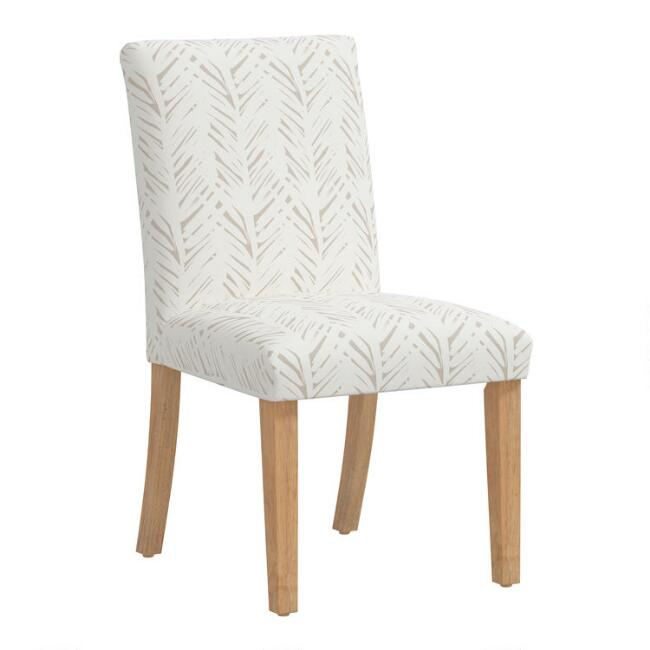 Kerri Upholstered Dining Chair With Natural Legs