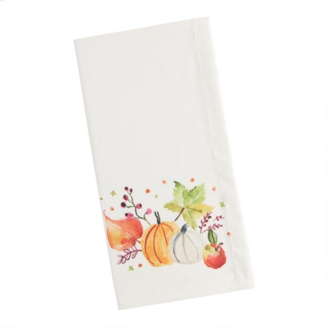 Natural Harvest Print Esther Napkins Set of 4