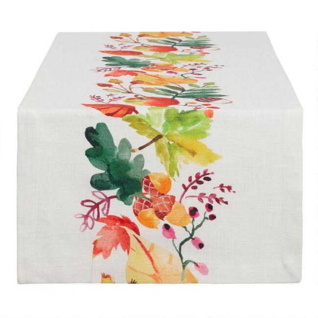 Natural Harvest Print Esther Table Runner
