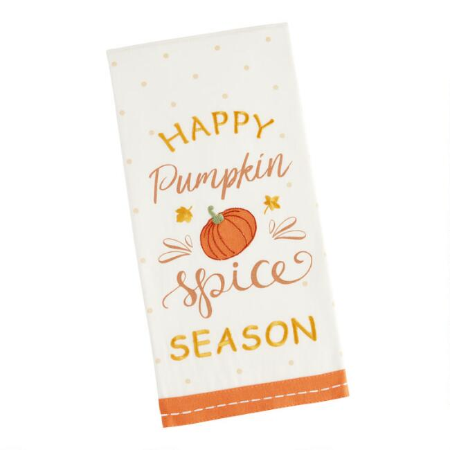 Pumpkin Spice Season Kitchen Towel