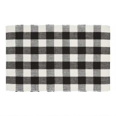 Black and Ivory Buffalo Check Placemats Set of 4