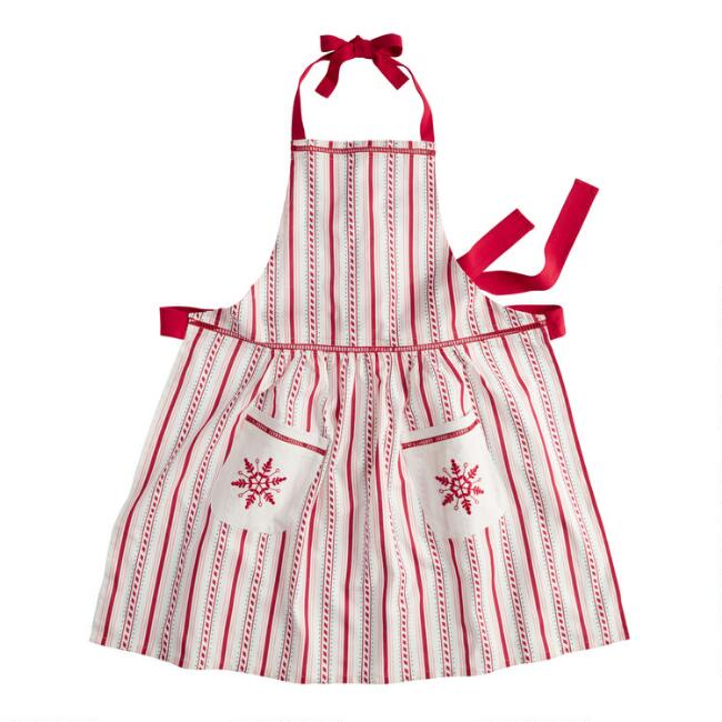 Red and White Candy Cane Apron