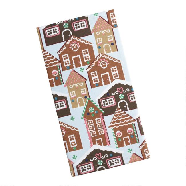 Gingerbread Village Kitchen Towel