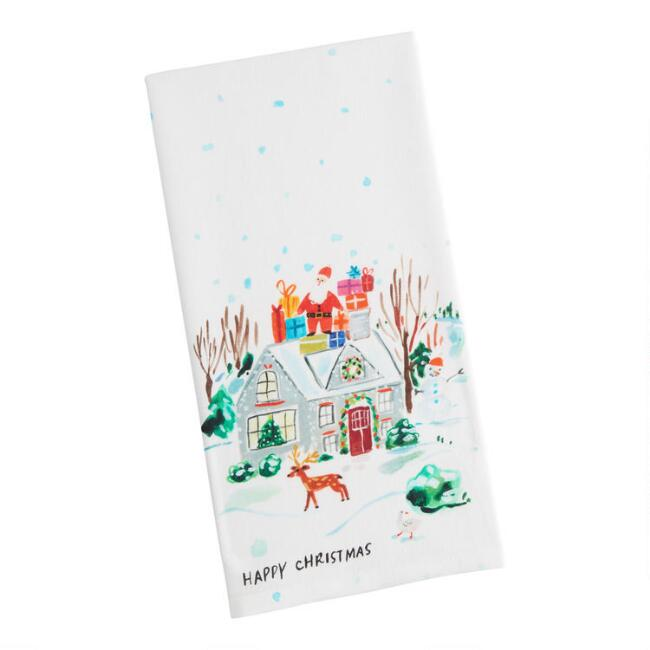 Winter Homestead Kitchen Towel