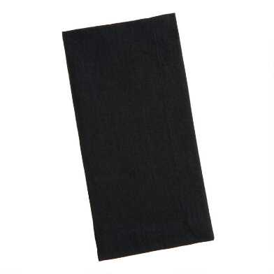 Black 100% Linen Napkins Set Of 4