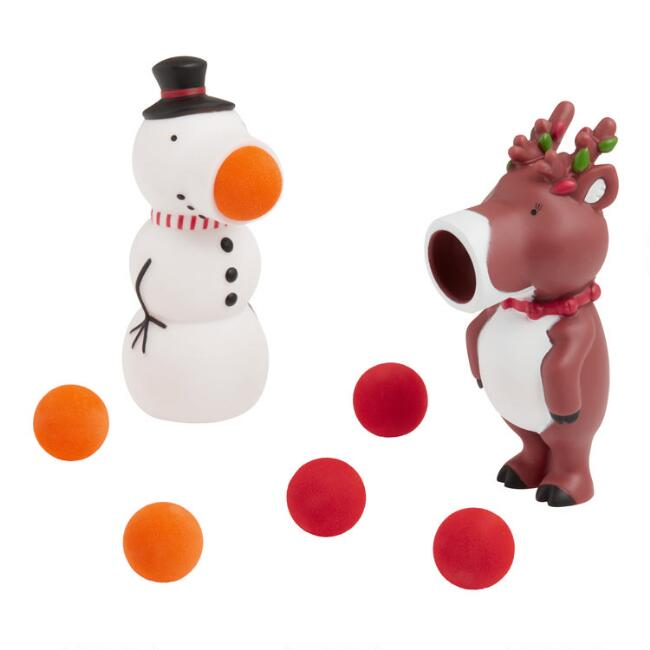 Snowman and Reindeer Holiday Poppers Set of 2