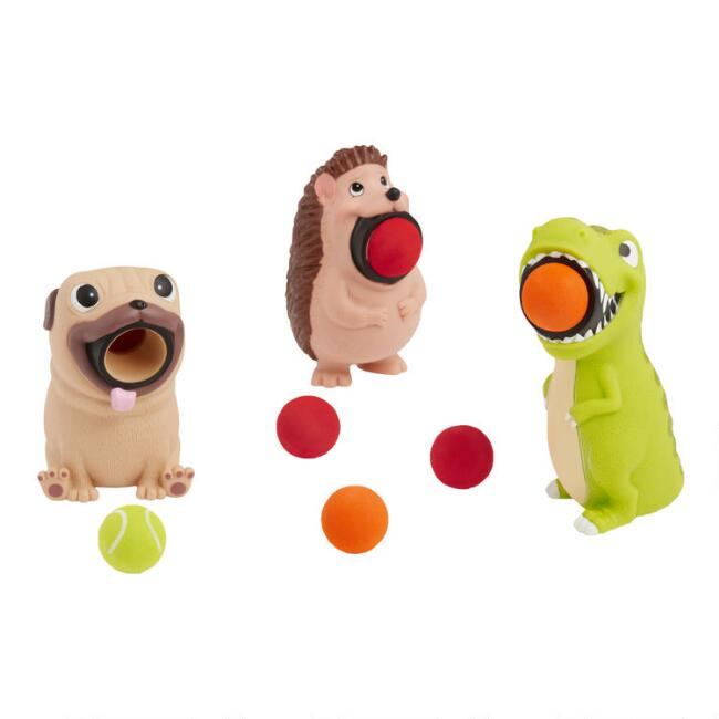 T-Rex, Hedgehog and Pug Poppers Set of 3