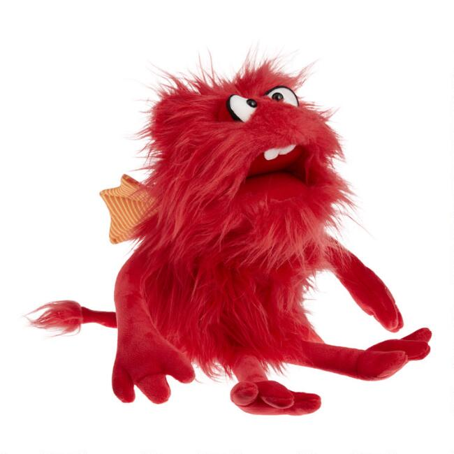 Living Puppets Shaggy Red Monster Hand Puppet
