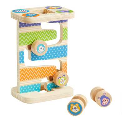 Melissa & Doug First Play Wooden Safari Zig Zag Tower