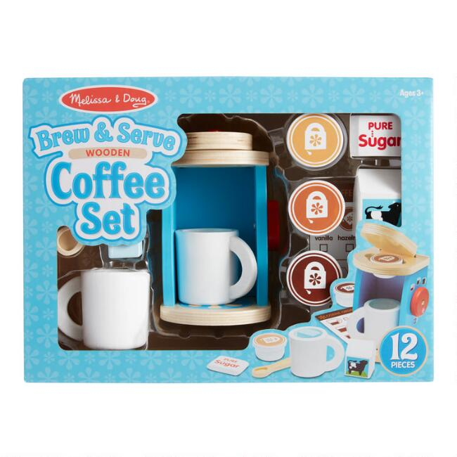 Melissa & Doug Brew and Serve Wooden Coffee Set