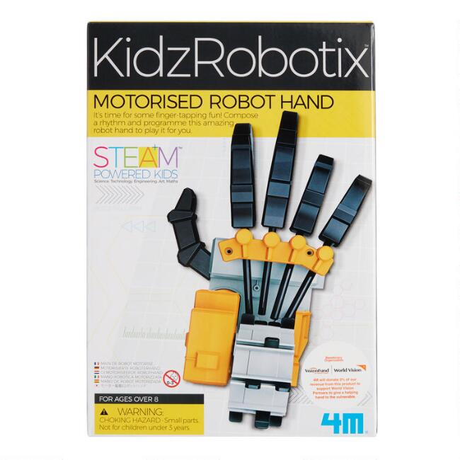 4M Kidz Robotix Motorised Robot Hand Science Kit