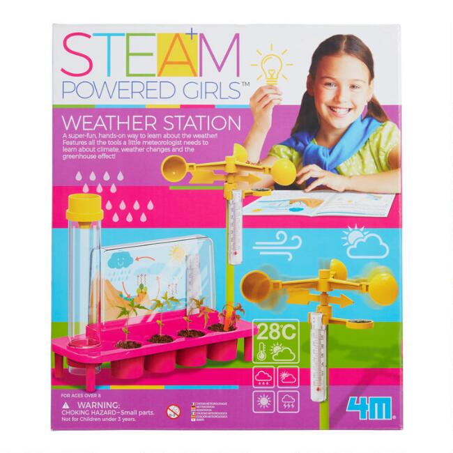 4M Steam Powered Girls Weather Station Science Kit