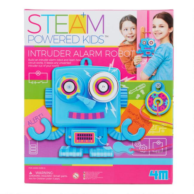 4M Steam Powered Girls Intruder Alarm Robot Science Kit