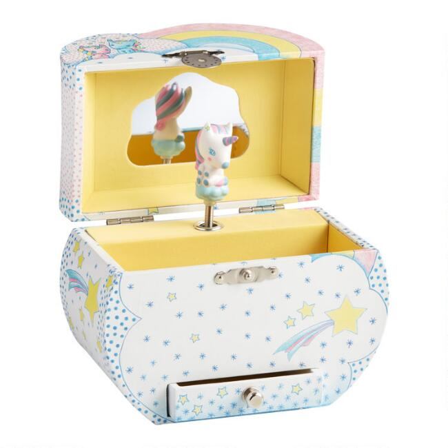 Djeco Unicorn Wood Music Box