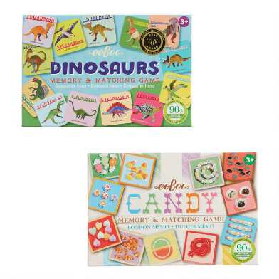 Eeboo Dinosaur and Candy Memory and Matching Games Set of 2