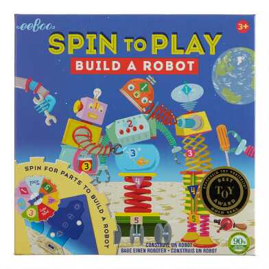 Eeboo Spin to Play Build a Robot Game