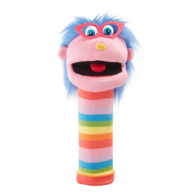 The Puppet Company Rainbow Gloria Knit Hand Puppet
