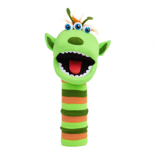 The Puppet Company Green Narg Knit Hand Puppet
