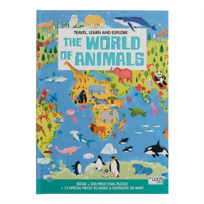 Sassi The World of Animals Book and 3D Puzzle