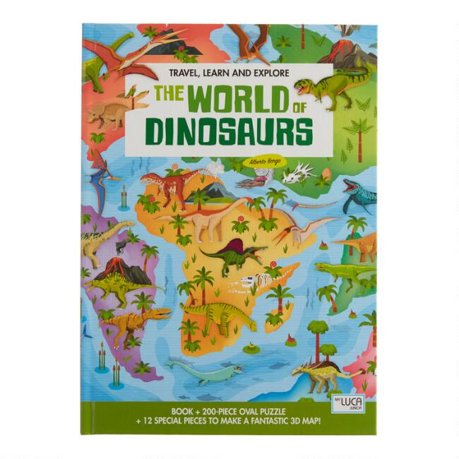 Sassi The World of Dinosaurs Book and 3D Puzzle