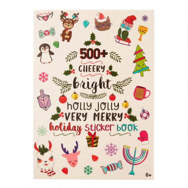 500 Plus Very Merry Holiday Stickers Book