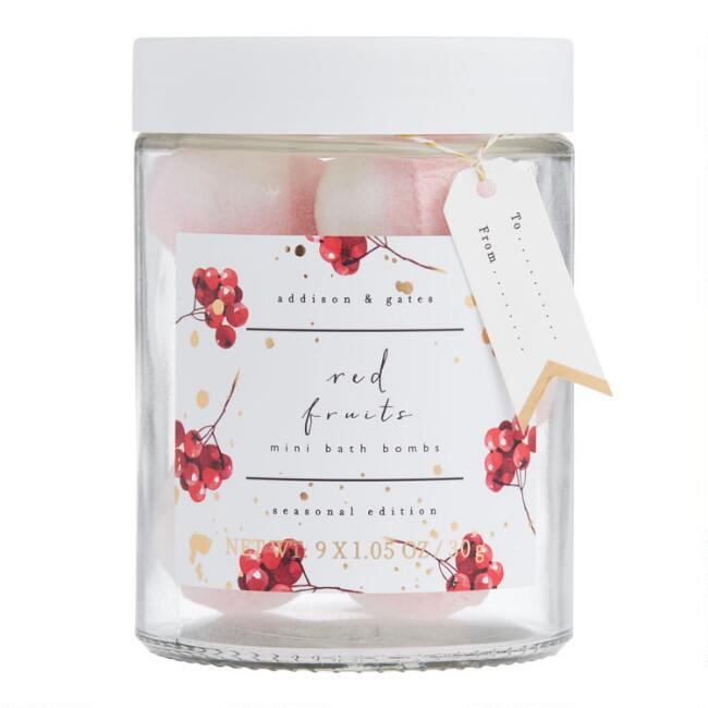 A&G Mini Red Fruits Bath Bombs 9 Count