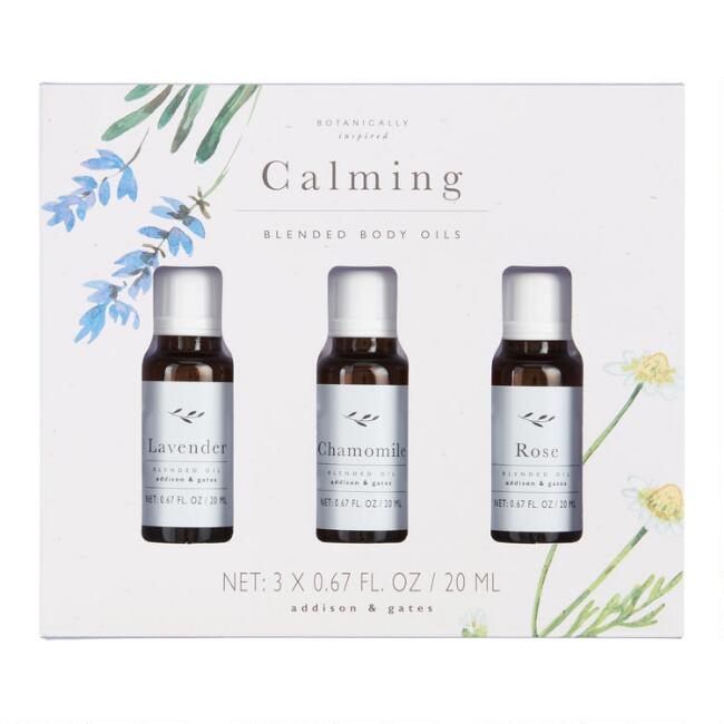 A&G Calming Aromatherapy Essential Body Oil Blends 3 Pack