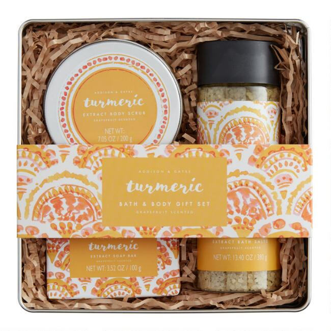 A&G Extracts Turmeric 4 Piece Bath Gift Set
