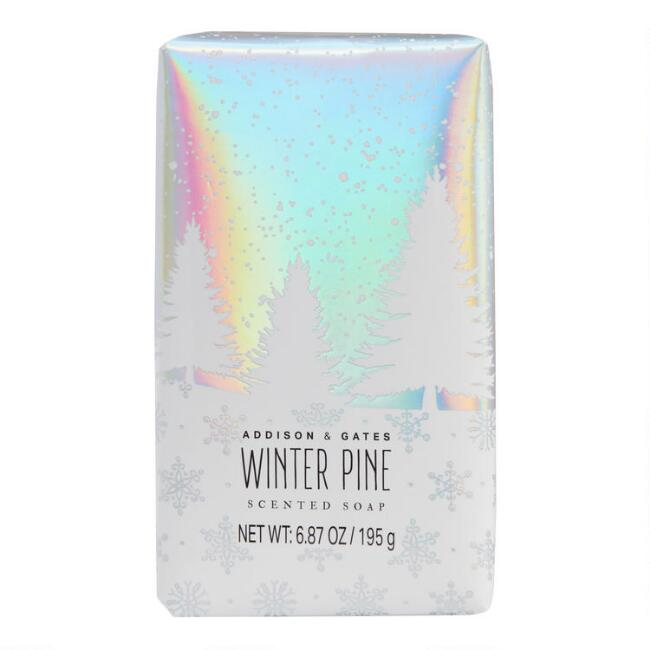 A&G Holographic Winter Pine Bar Soap