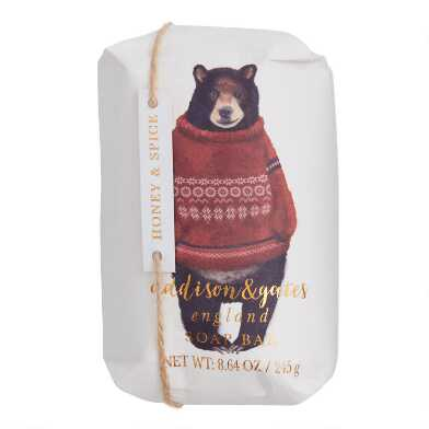 A&G Honey and Spice Cozy Bear Bar Soap