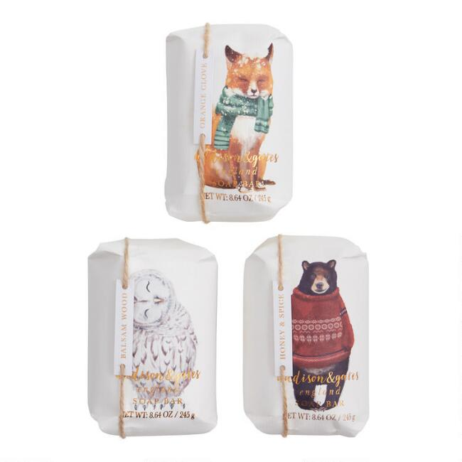 A&G Cozy Animal Bar Soap Collection